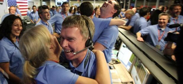 NASA Control Room, Mars Landing, August-2012