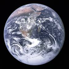 "Earth is ""The Blue Marble"" as seen from the moon"
